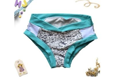 Click to order L Briefs White Dragonflies now